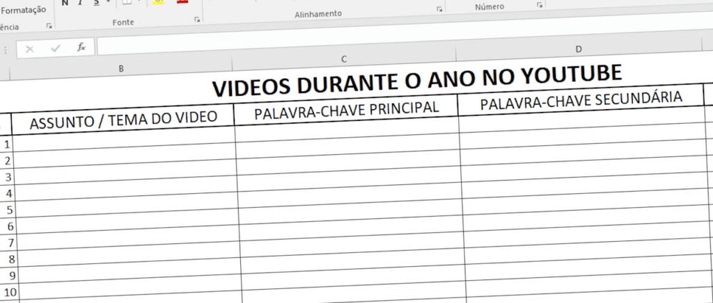 Planilha | PRODUCCINE